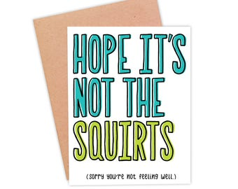 Funny Get Well Soon Card | Feel Better Card | Funny Illness Card | Funny Get Better Soon Card - Heard You Weren't Feeling Well