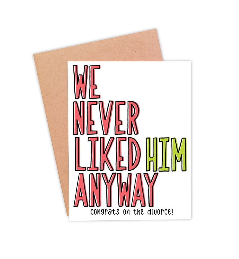 Funny Divorce Card For Her  Divorce Celebration Card  Newly image 0