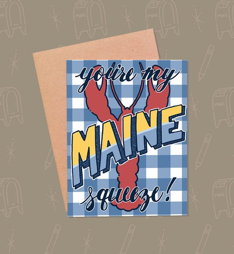 Funny Valentine's Day Card  Funny Maine Card  Funny Love image 0