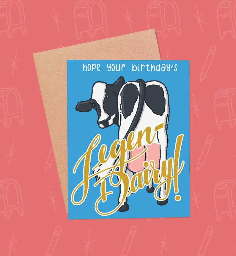 Funny Birthday Card  Cow Birthday Card  Barney Stinson image 0