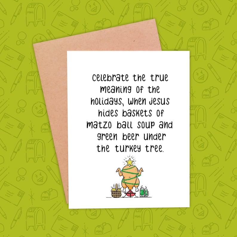Funny Christmas Card  Funny Holiday Card  Snarky Christmas image 0