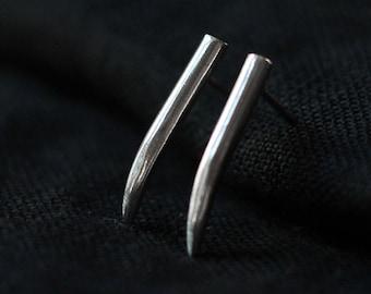 Fang Studs- Free Shipping Silver Fang Earrings