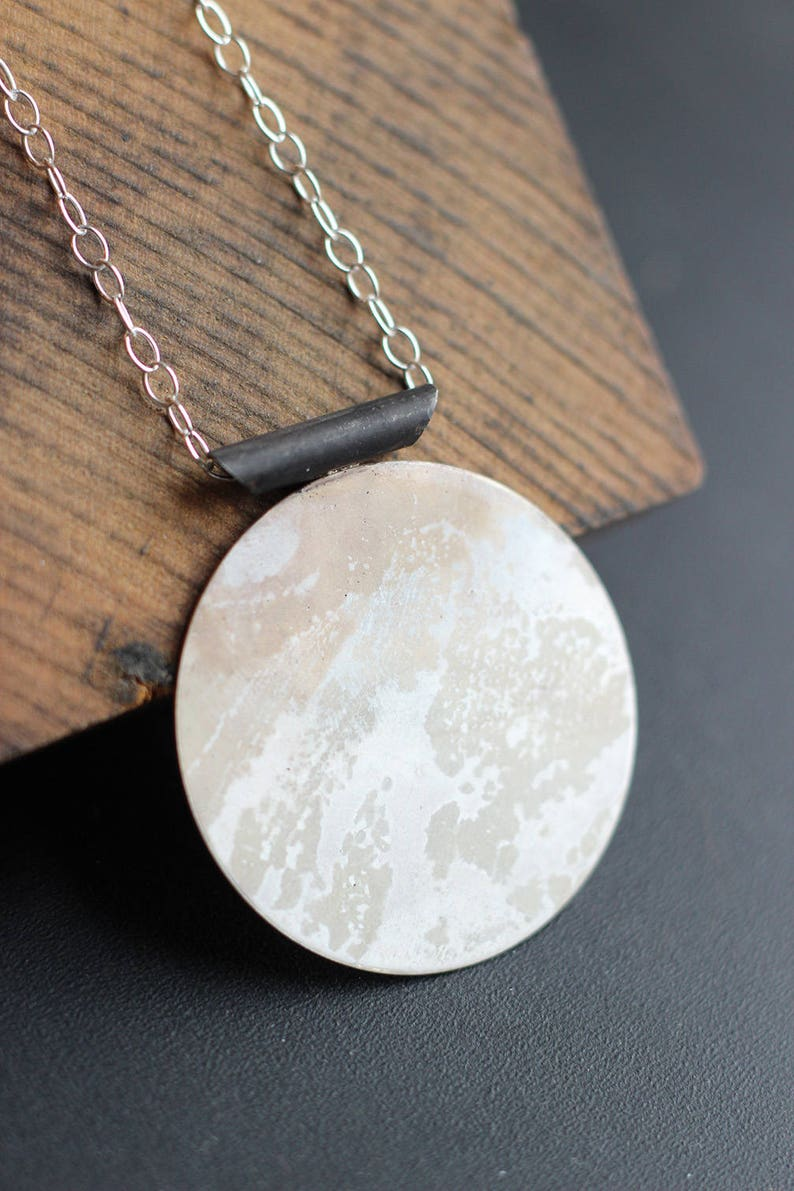 Japanese Inspired Long Sterling Necklace Free Shipping image 0