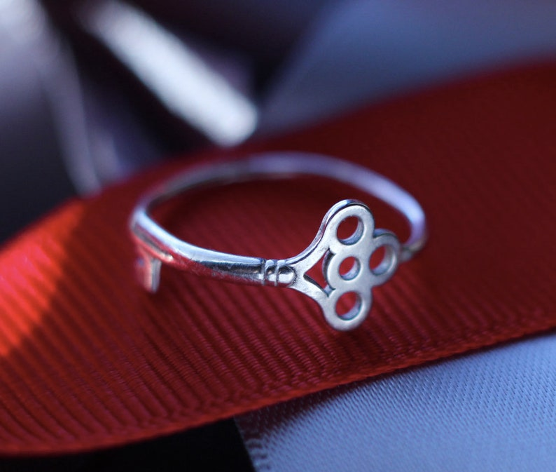 Sterling Key Ring Free Shipping silver ring silver stacking image 0