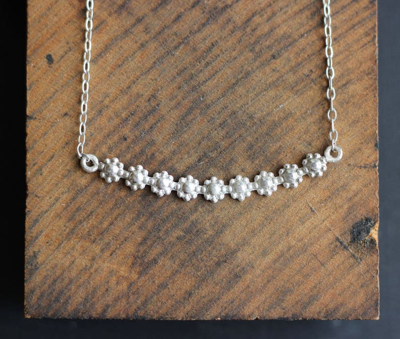 Sterling Flower Necklace Free Shipping silver necklace image 0