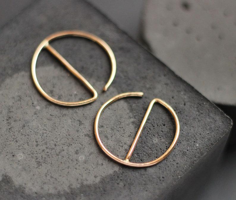 Modern Gold Hoop Earrings Free Shipping Gold Hoops image 0