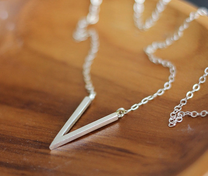 It Comes To A Point Sterling Necklace Free Shipping silver image 0