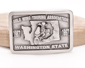 a7e7dea5f31 Boucle de ceinture Honda Gold Wing moto Touring Association collectionneur  Washington State dixième anniversaire 1997