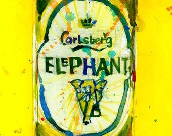 Carlsberg Beer - Bar Art Carlsberg Elephant Denmark Beer