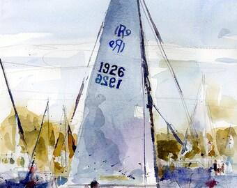 Sailing Sunset Marblehead