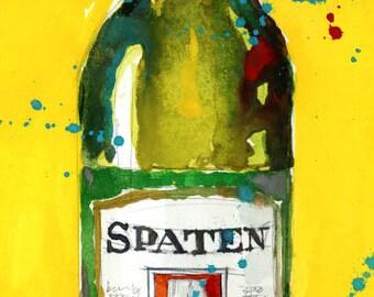 Spaten Beer Art, Bar Decor, Resturant,