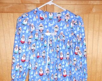 Size 6 flannel penquins