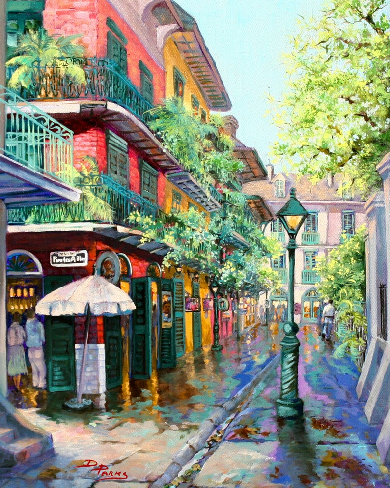 "Pirates Alley Painting New Orleans French Quarter Lustre Print-16""x20"""