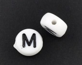 Alphabet Letter Cube M Silver European Bead Charm E1462 1 Bead