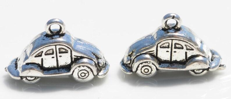 BULK 25 Car 3D Silver Tone Charms SC1511