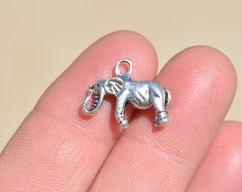 5  Silver Elephant  Charms SC1748
