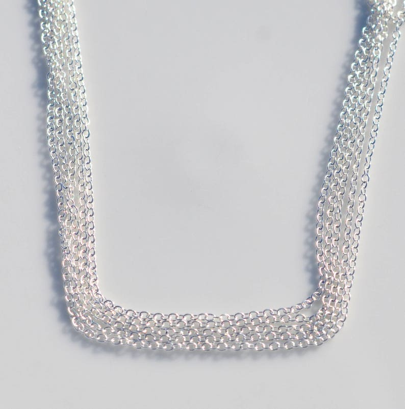 5 Meters Bright Silver Plated Link Chain C1000