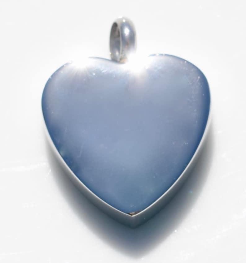1 Titanium Steel Cremation Heart with Tree Urn Pendant SC4206