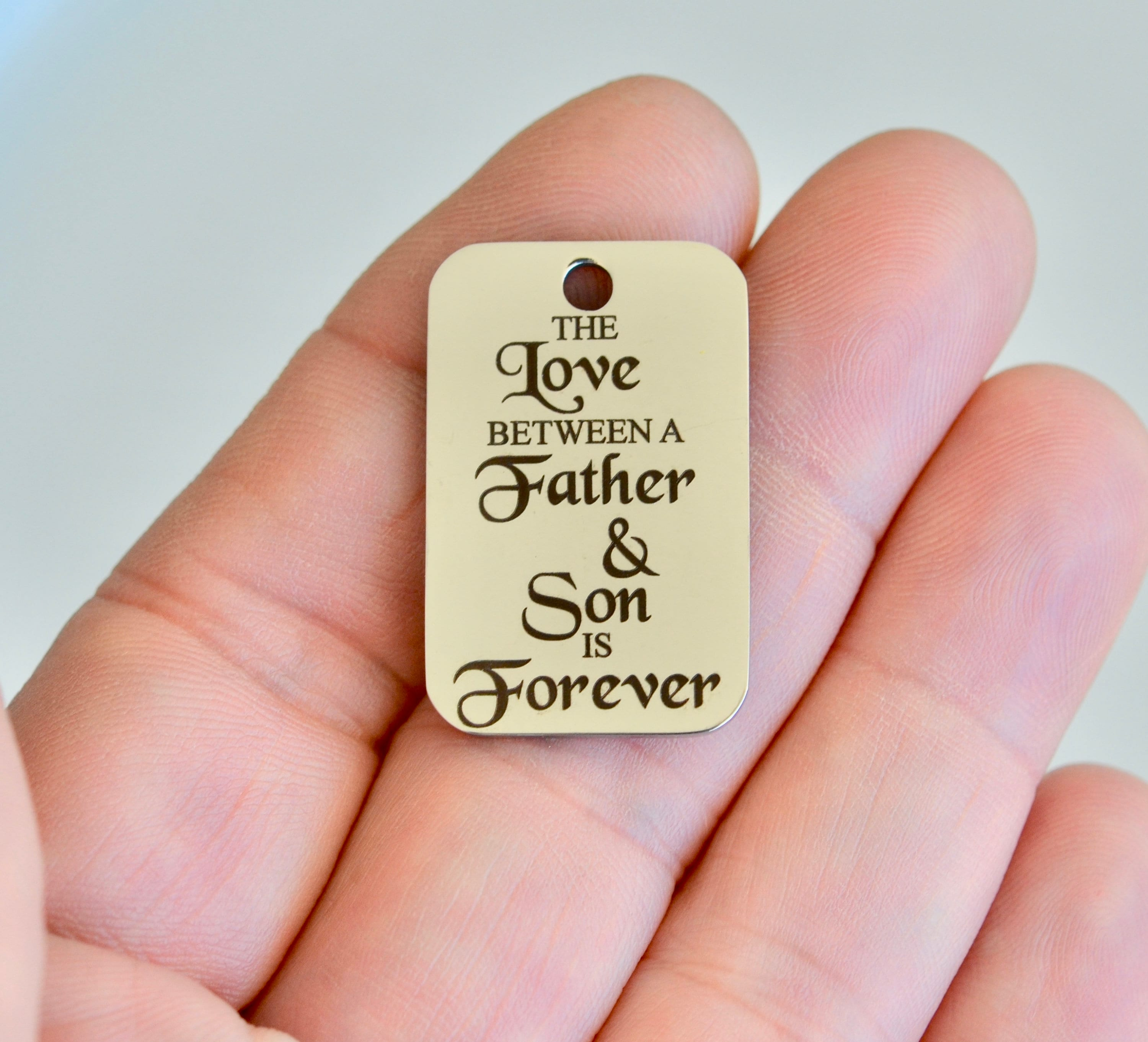 The Love between a Father Son Custom Laser Engraved   Etsy