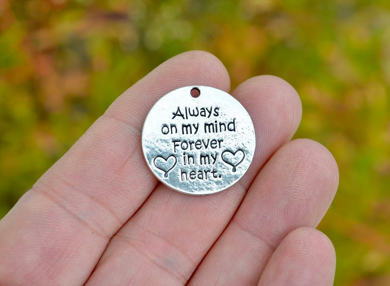 4954f0f60ee80 5 Always on my mind, Forever in my heart Silver Tone Charms SC4102