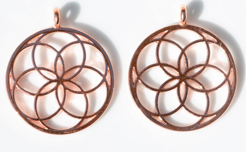 5  Flower Rose Gold Tone Charms GC3241