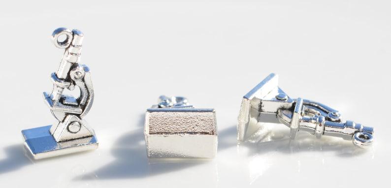 BULK 50  Silver Microscope Charms SC3681