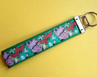 A Christmas Story Keychain Wristlet Green