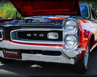 1966 Pontiac GTO - Classic Car - Garage Art - Pop Art - Fine Art Photograph