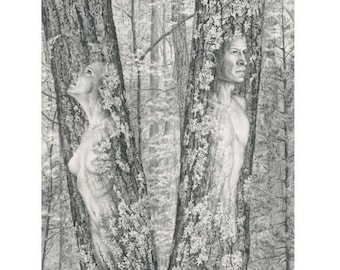 "Giclee Print ""Guardians"" from ""Spirits Within Series"""