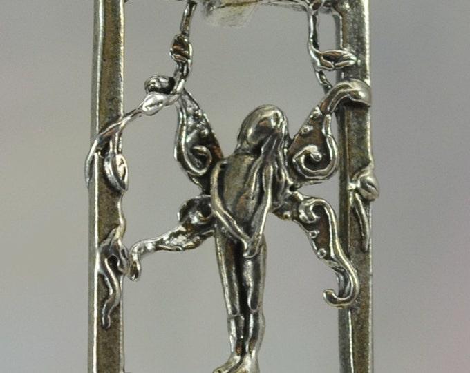 Shy Faerie Pendant in Sterling Silver