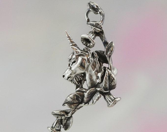 Unicorn Ear Cuff in Sterling Silver Fantasy Jewelry