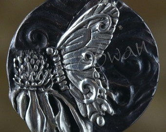 Spirit Butterfly Fantasy Pendant with Tube Bail in Sterling Silver