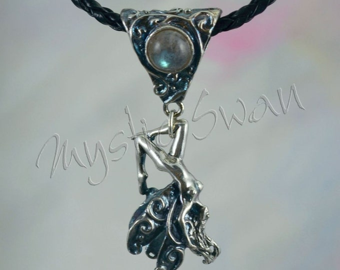 Frolicking Faerie, Brave, With Choice of Bail in Sterling Silver