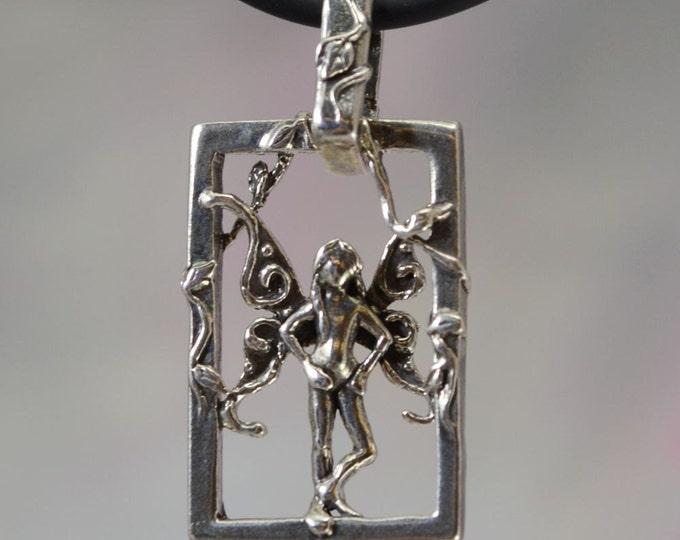 Faerie Imp Fantasy Jewelry Pendant in Sterling Silver