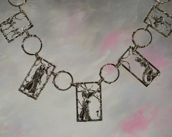 "Fantasy ""Unveiled"" Necklace in Sterling Silver"