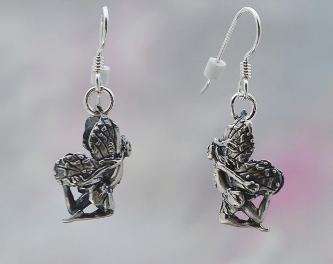 Flying Faerie Earrings in Sterling Silver