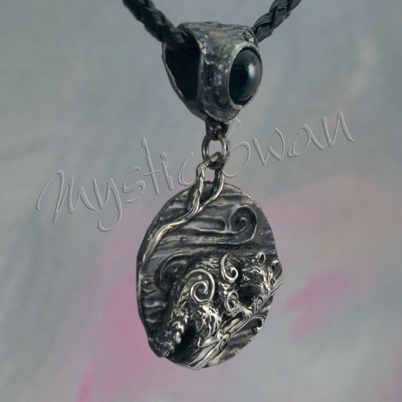 Any Spirit Animal Fantasy Pendant with Accent Stone Bail in image 0
