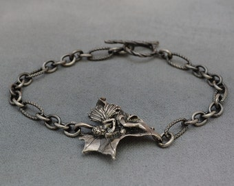 Sterling Silver Faerie Bracelet, Sycamore Faerie