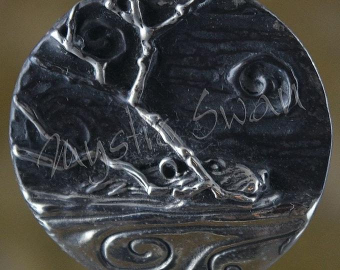 Spirit Beaver Fantasy Pendant with Tube Bail in Sterling Silver