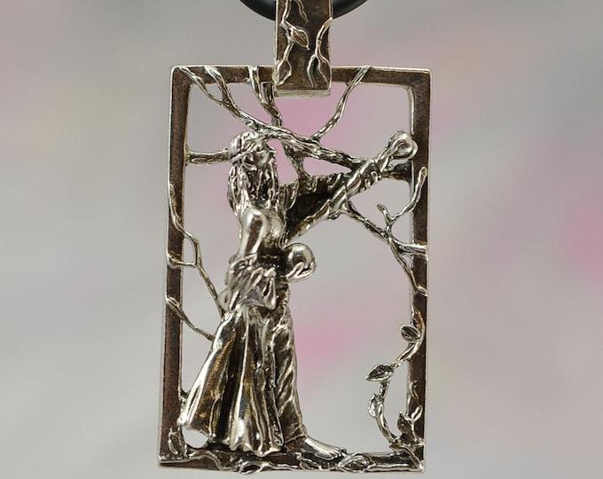 Fantasy Jewelry Wizard Pendant in Sterling Silver