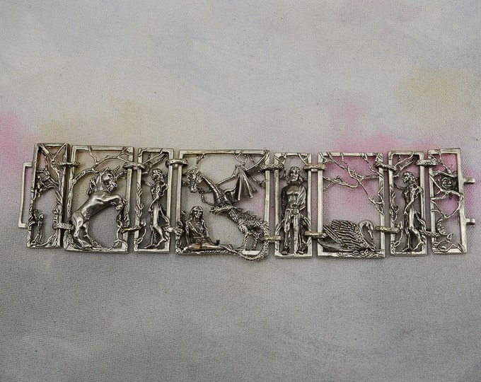 "Mystical Fantasy ""Unveiled"" Bracelet in Sterling Silver"