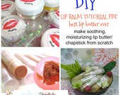 Lip Balm Tutorial PDF/Instant Download - DIY using all natural ingredients/includes cute label template