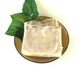 Vanilla Mint Soap - Vegan - fresh mint creamy vanilla organic ground beans - Gift Soap, Guest Soap, Soap Favors