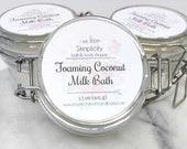 Foaming Coconut Milk Bath Soak/Powder - coconut milk and soothing oats/milky bubble bath