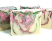 Peppermint Candy Soap- - super sudsy + lots of bubbles - Limited Edition Holiday Soap