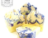 Lavender Lemonade cold process Soap - artisan soap/handmade soap/homemade soap/vegan gift soap