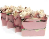 Pink Chiffon Soap - cold process soap/handmade soap/homemade soap/vegan gift soap