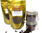 Coffee Scrub - Espresso Shimmer Body Scrub - rose gold shimmer/shimmery shine//leaves skin with shimmering glow