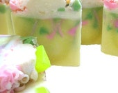 Pineapple Cilantro Soap - handmade soap from scratch- super sudsy lather and bubbles - Summer Soap