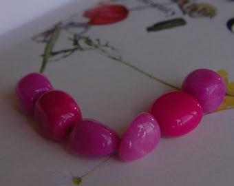 Pink Jade Gemsrtone Nuggets (6 nuggets)